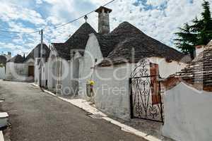 View of Trulli houses in Alberobello, Apulia, Italy