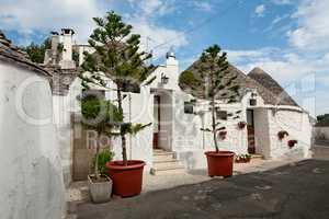 Typical beautiful Trulli houses in Alberobello, Puglia, Italy