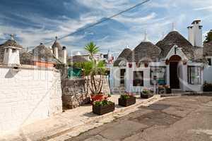 Traditional Trulli houses in Alberobello, Puglia, Italy