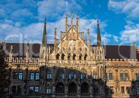 The New Town Hall at Marienplatz in Munich, Bavaria, Germany