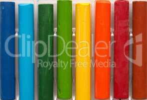 Set of oil pastels