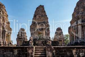 East Mebon temple in the Angkor Wat complex in Siem Reap, Cambodia.