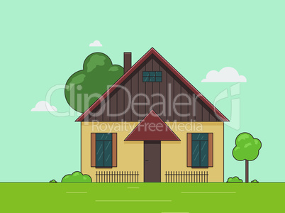 Vector illustration of a little house.