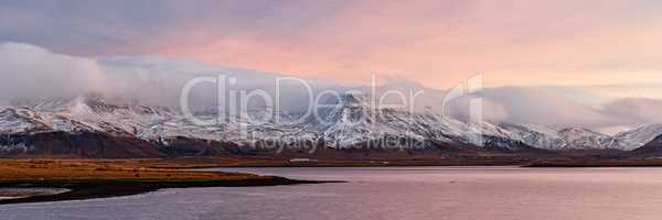 Sunrise from Reykjavik, Iceland