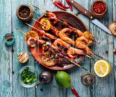 Grilled shrimp skewers