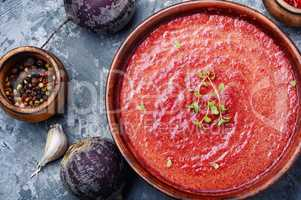 Beetroot creamy soup