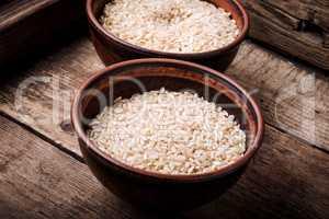 Uncooked dry rice