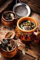 Cup of healthy tea