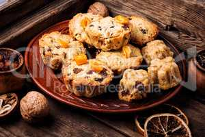 Cookies on wooden table