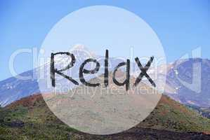Vulcano Mountain, Text Relax, Beautiful Natural Landscape