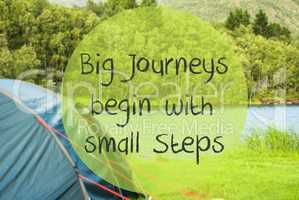 Lake Camping, Quote Big Journeys Begin With Small Steps