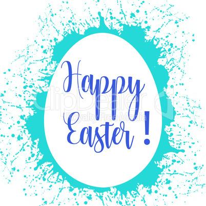 Egg for Easter with paint splatters vector illustration