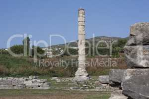 Temple of Artemis one of the seven wonder of the ancient world - Selcuk, Turkey . Storks nest in an old colony in the middle of a wasteland in the ancient city of Ephesus photo