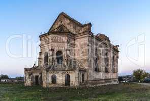 Abandoned Catholic church in Ukraine