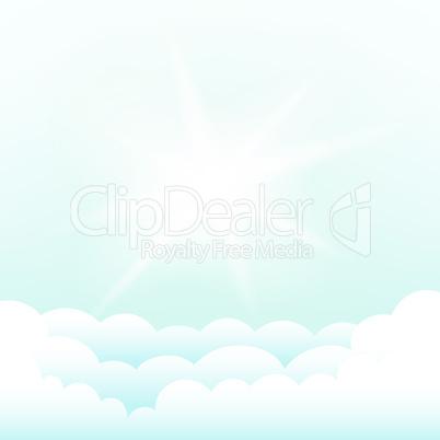 sun above the clouds blue sky
