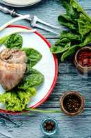 Dietary meat baked heart