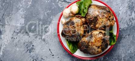 Roast pork heart