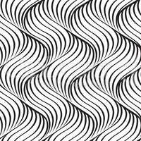 Abstract wavy line seamless pattern