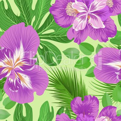 Floral seamless pattern.  Flower background. Flourish garden