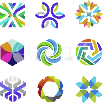 business symbols and logo set