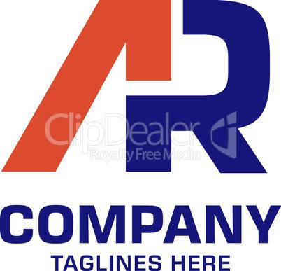 initial letter AR logo