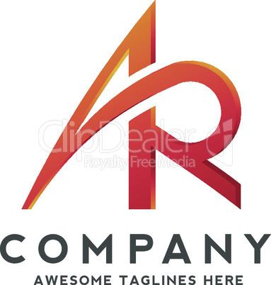 letter AR logo design