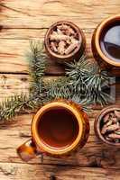 Tea with pine buds