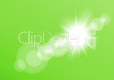 lens light bokeh green background