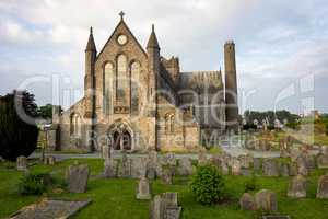 View of St Canices cathedral in Kilkenny in Ireland