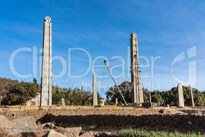 The Northern Stelae Park of Aksum, famous obelisks in Axum, Ethiopia