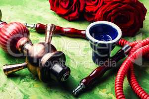 Flower with hookah
