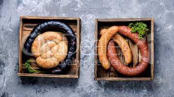Assortment of salami and snacks
