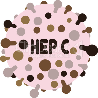 Hepatitic C virus vector illustration