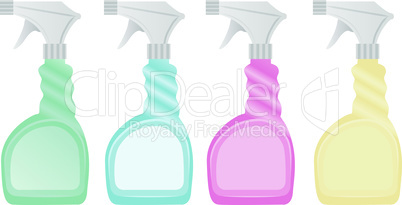 Set of cleaning spray icon.