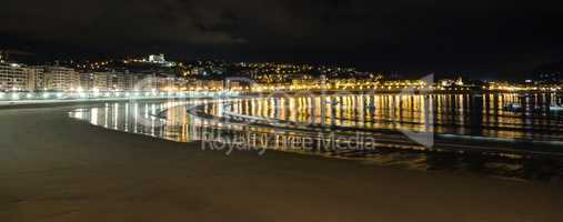 Walk through San Sebastian or Donostia in the Basque country in Spain