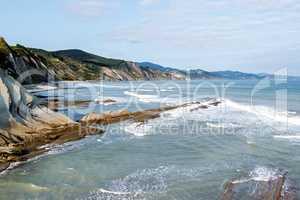 The Acantilado Flysch in Zumaia - Basque Country, Spain