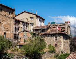 The little town of Potes in Cantabria, Spain.