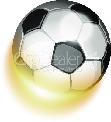 Soccer sport ball in fire