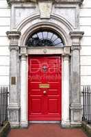 colourful Georgian door in Dublin city, Merrion Square, Ireland