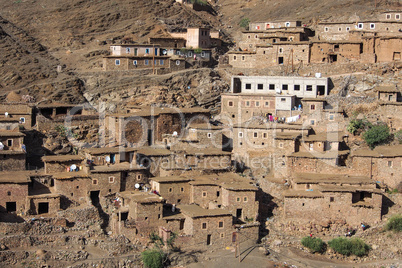 Landscape of the Atlas Mountains in Morocco, Africa