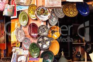 The Souks in Marrakesh, Morocco,. The largest traditional market in Africa.