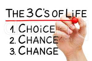 Choice Chance Change Better Life Concept
