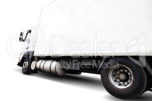 Truck isolated on white background.Wheels and rim