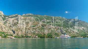 Fortification wall in Kotor, Montenegro