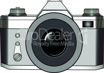 Classic SLR photo camera
