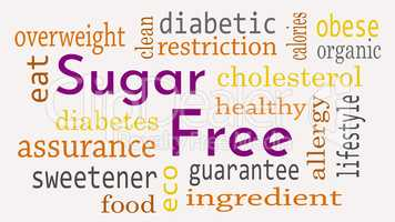 Sugar free message background. Healthy food concept - Illustrati