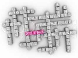 3d Aging word cloud concept - Illustration