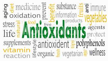 Antioxidant word cloud concept - Illustration