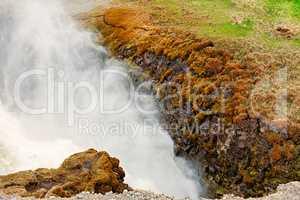 Closeup of Gullfoss waterfall