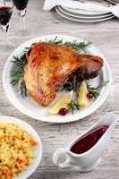 Baked turkey thigh